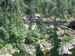 Ziplining-Nanaimo, BC.-Me