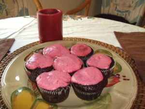 Chocolate and low fat rasp icing