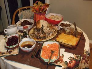 Thanksgiving dinner-2009